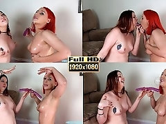 Spit Play Gagging Double Dildo...