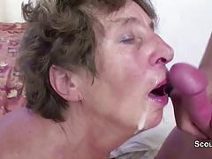 Young Man Seduce His old Grandma...