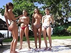 erotic girls group dancing