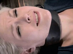 Bound Teen Mouth Stuffed with...