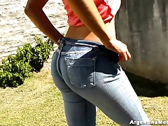 INCREDIBLE ASS IN JEANS At the...