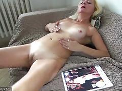 xhamster Oldnanny Blonde mature and slave...