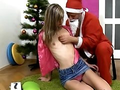 Blonde teen girl with very small...