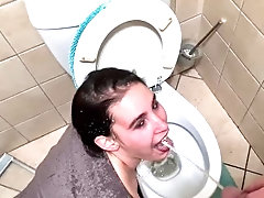 Piss in my face toilet whore ...