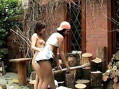 Hot lesbian massage hd Cutting...