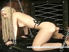 Sexy long haired slave meets the...