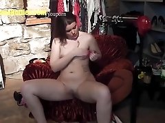 Pussy rubbing by chubby TEEN at...