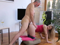 Young playgirl sucks old cock...