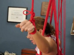 BDSM hardcore action with ropes...