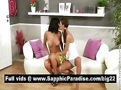 Amazing brunette lesbians...