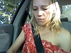 Pretty gf Gets Naked in Car and...
