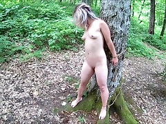 xhamster Tied and whipped in the forest-1