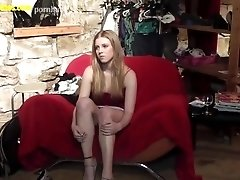 Blond and horny - the very first...